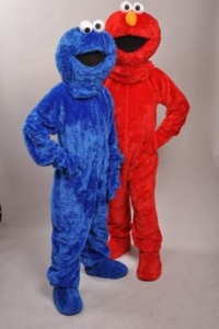 Elmo and Cookie Monster Costumes