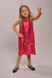 1960's Child pink hippy Costume