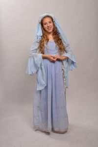 Medieval pale blue Costume