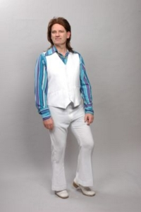 70s Seventies Male blue Costume