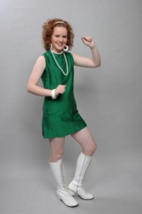 1960s retro green sixties costume