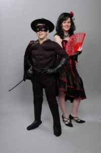 Spanish Couple Child Costumes