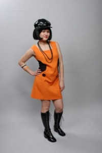 1960s orange retro costume