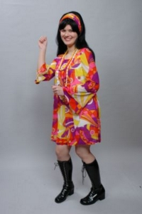 60's sixties psychedelic female Costume