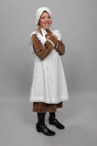 Colonial Child brown Costume